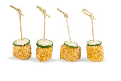 Salmone in tempura, maionese, cetriolo